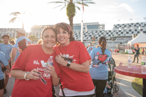 Team Mainstreet getting ready to participate in the Heart Walk at Daytona International Speedway
