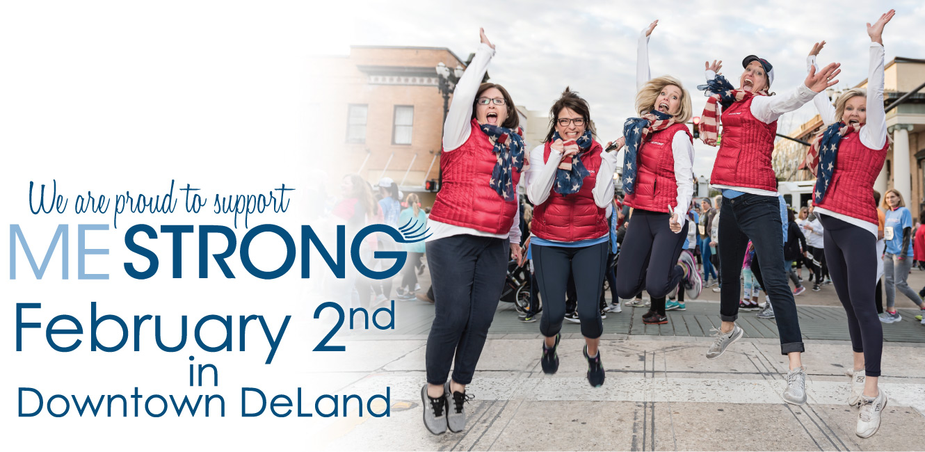 Ladies of MeStrong Organization jumping in the air to support 5k race on Feb. 2nd, 2019