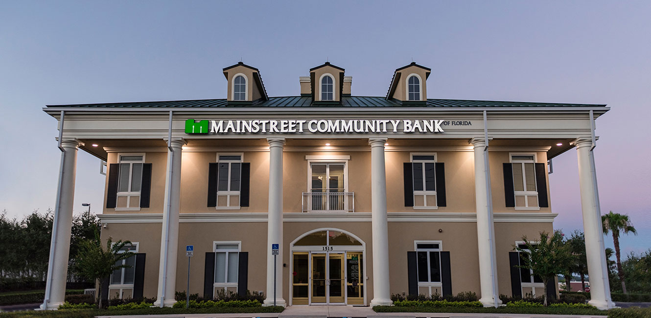Maintstreet Bank branch building.